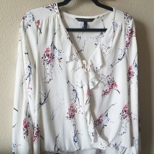 Flowerly Wrapped Full Sleeve Blouse